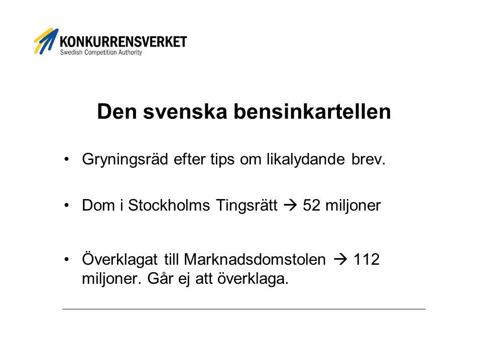 Den svenska bensinkartellen