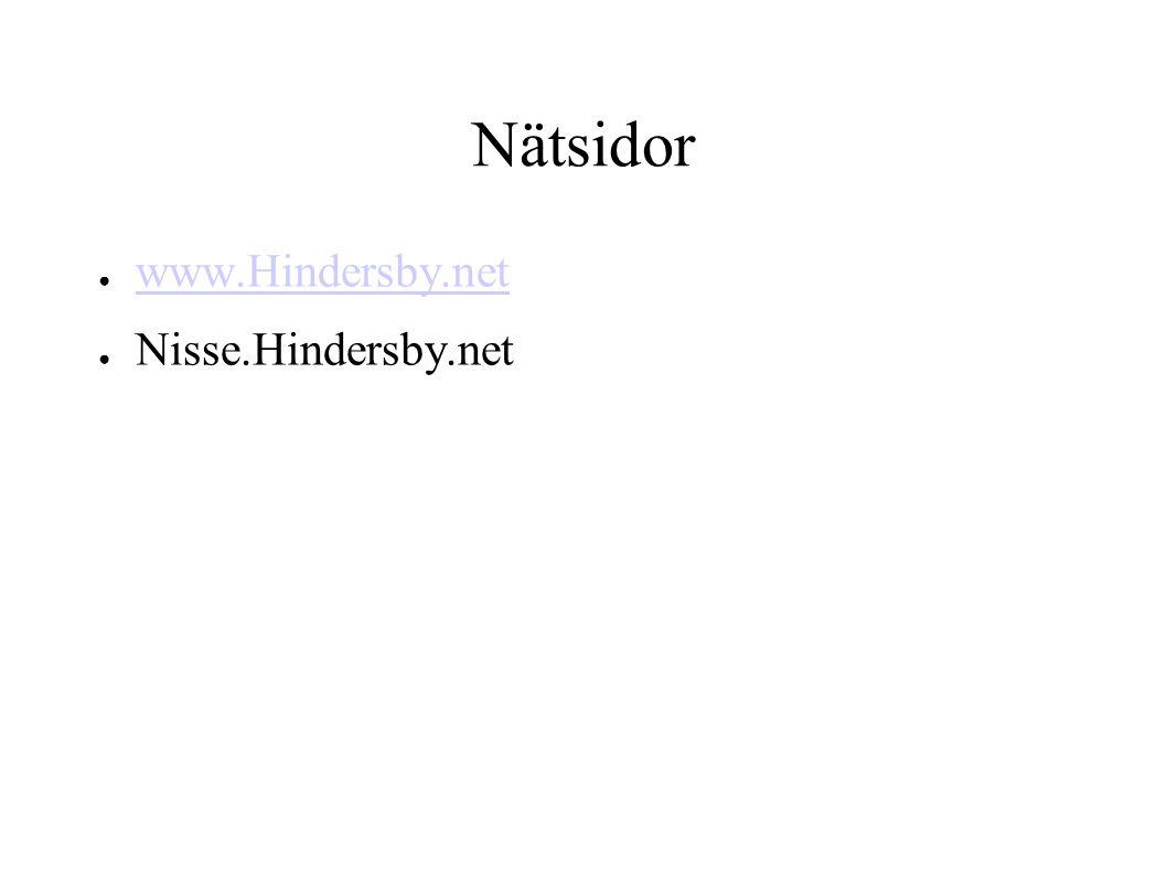 Nätsidor www.Hindersby.net Nisse.Hindersby.net