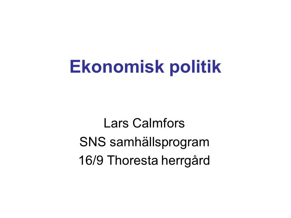 Lars Calmfors SNS samhällsprogram 16/9 Thoresta herrgård