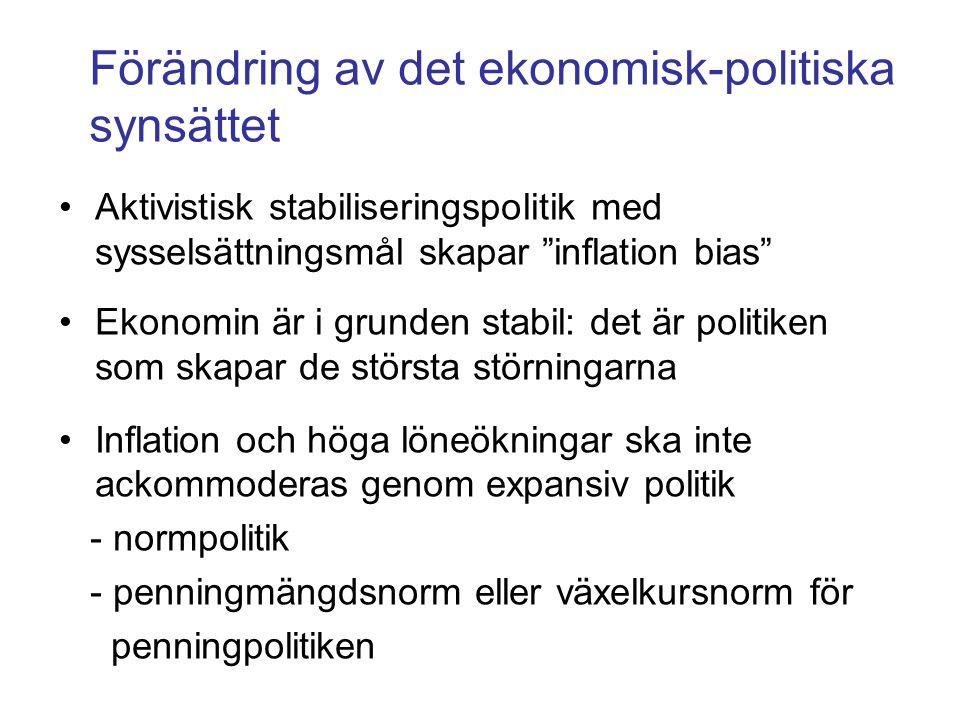 Förändring av det ekonomisk-politiska synsättet