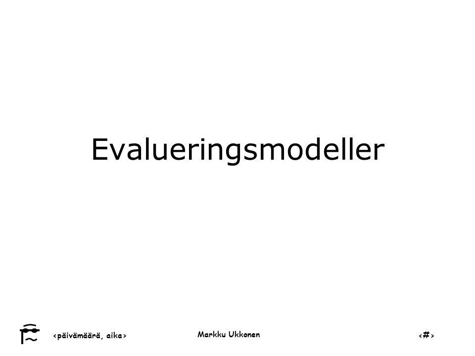 Evalueringsmodeller