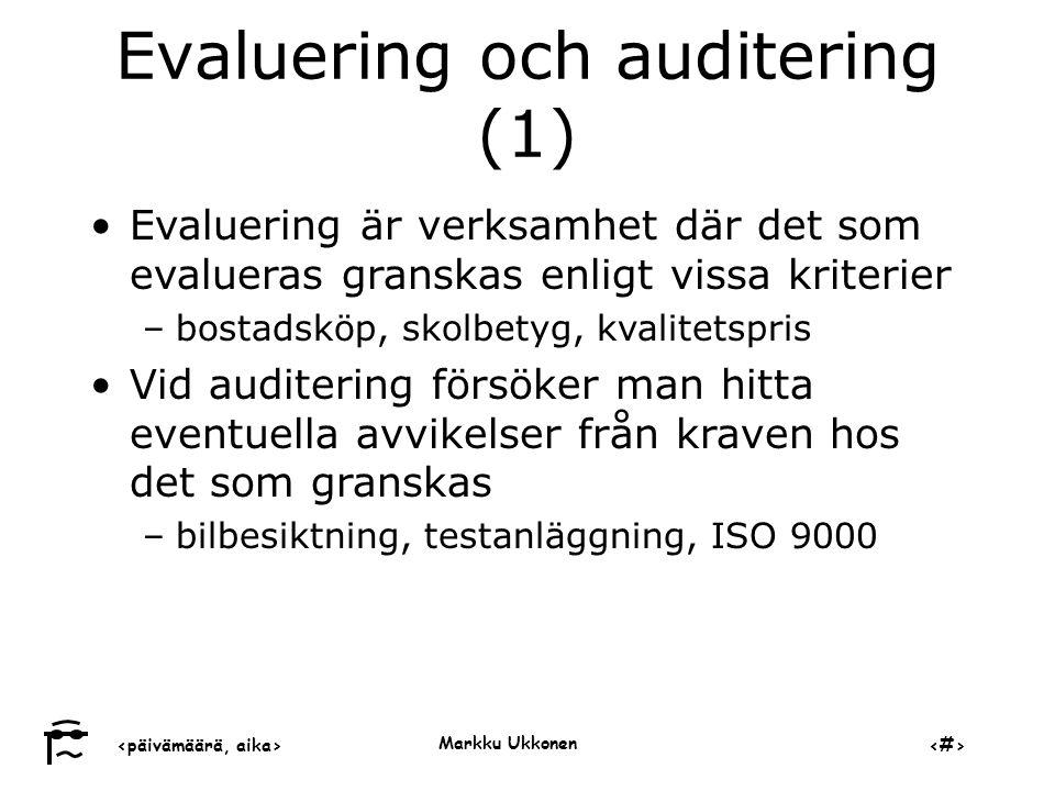 Evaluering och auditering (1)