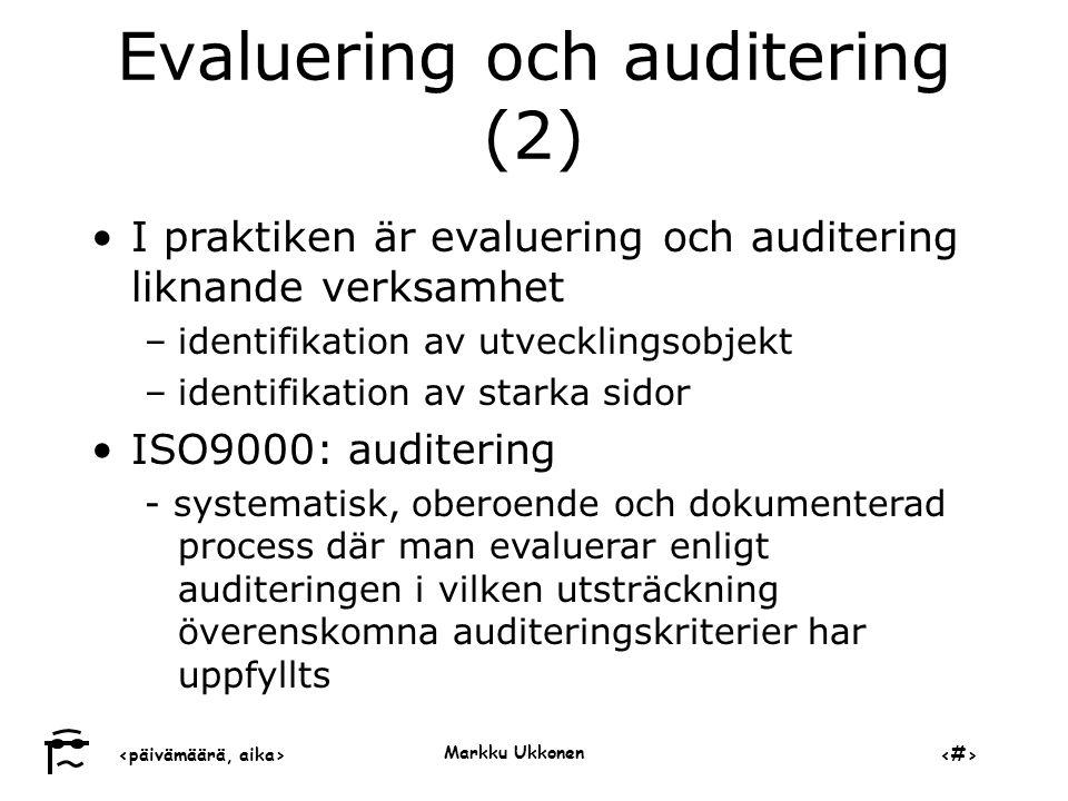 Evaluering och auditering (2)