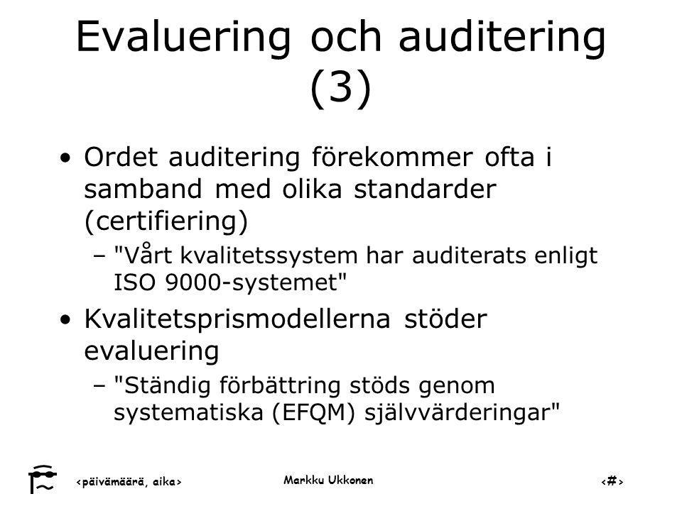 Evaluering och auditering (3)