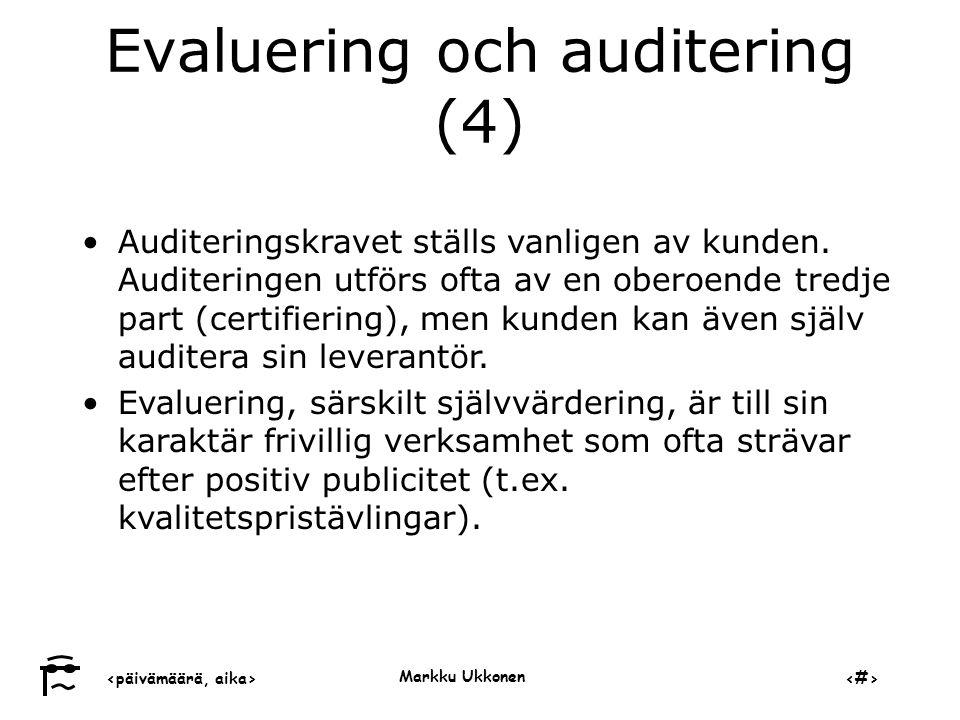 Evaluering och auditering (4)