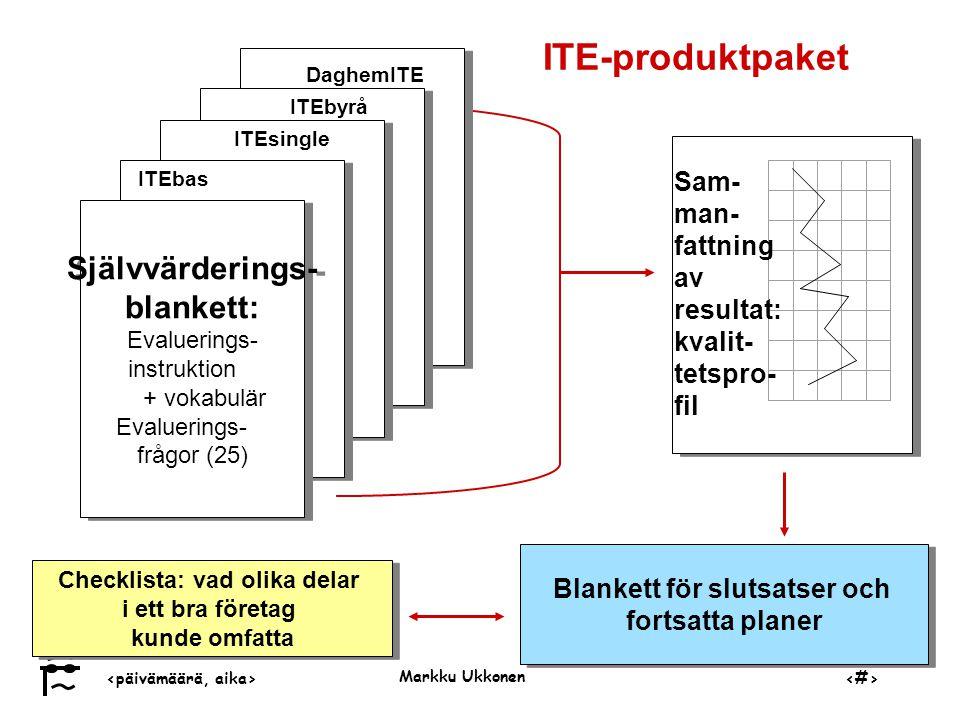 Blankett för slutsatser och Checklista: vad olika delar
