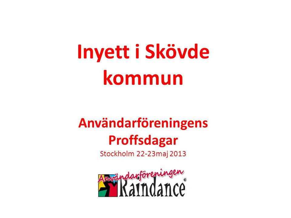 Inyett i Skövde kommun Användarföreningens Proffsdagar