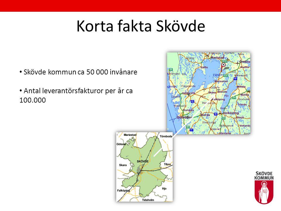 Korta fakta Skövde Skövde kommun ca 50 000 invånare