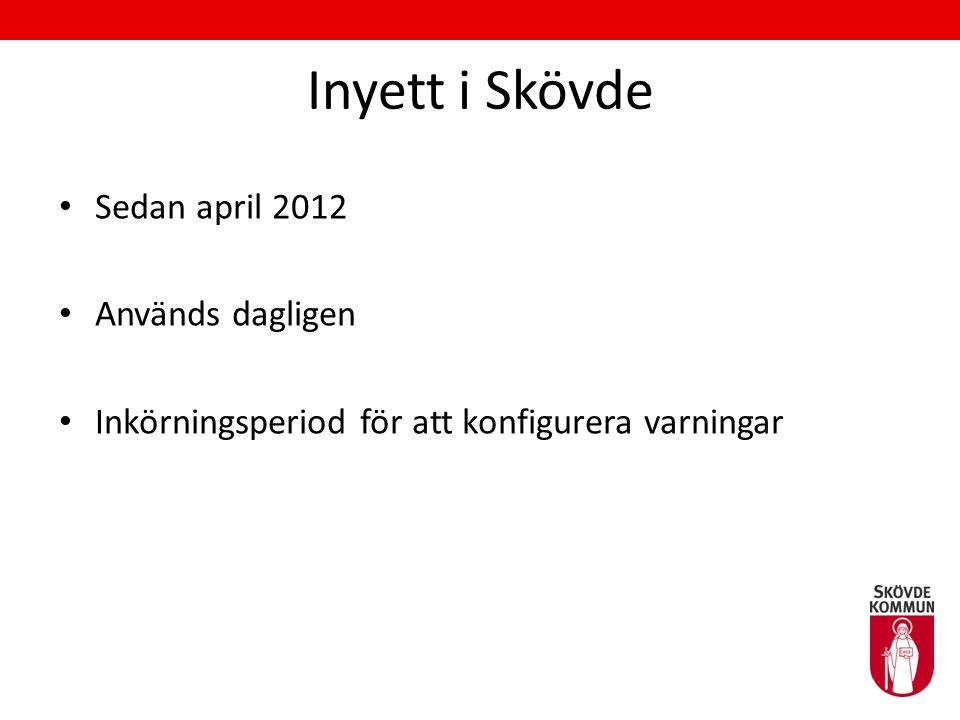 Inyett i Skövde Sedan april 2012 Används dagligen
