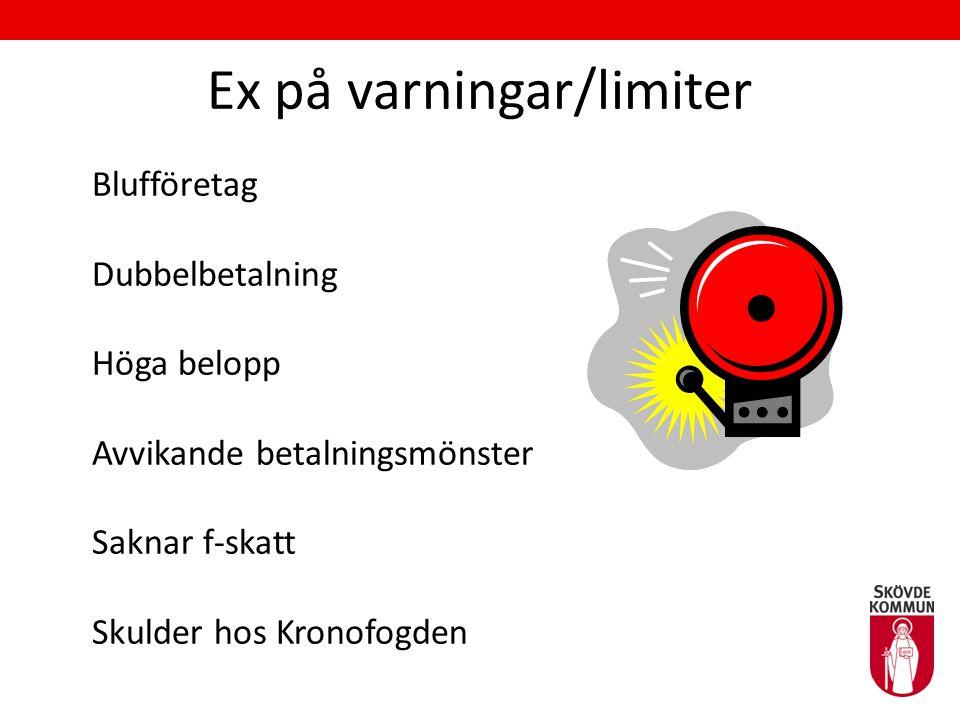 Ex på varningar/limiter