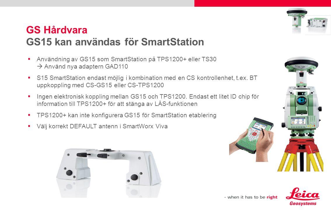 GS Hårdvara GS15 kan användas för SmartStation