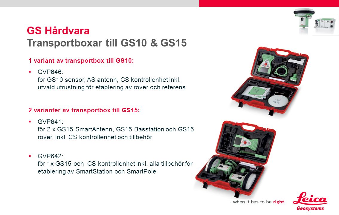 GS Hårdvara Transportboxar till GS10 & GS15