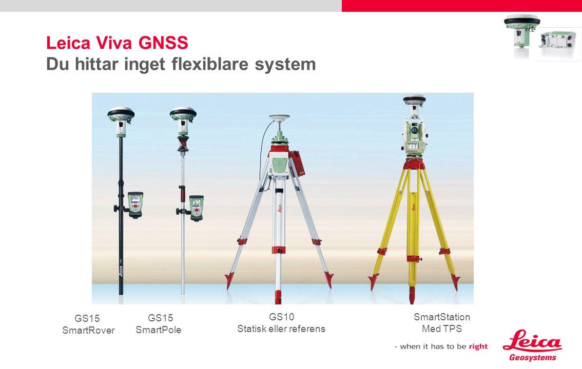 Leica Viva GNSS Du hittar inget flexiblare system
