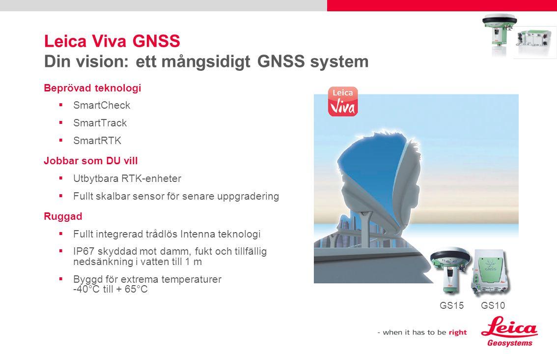 Leica Viva GNSS Din vision: ett mångsidigt GNSS system