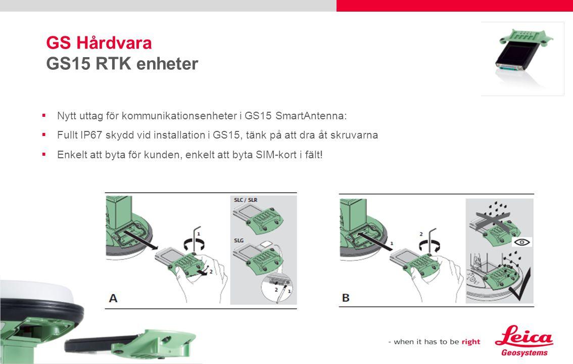 GS Hårdvara GS15 RTK enheter
