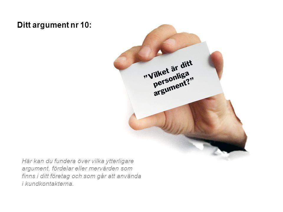 Ditt argument nr 10: