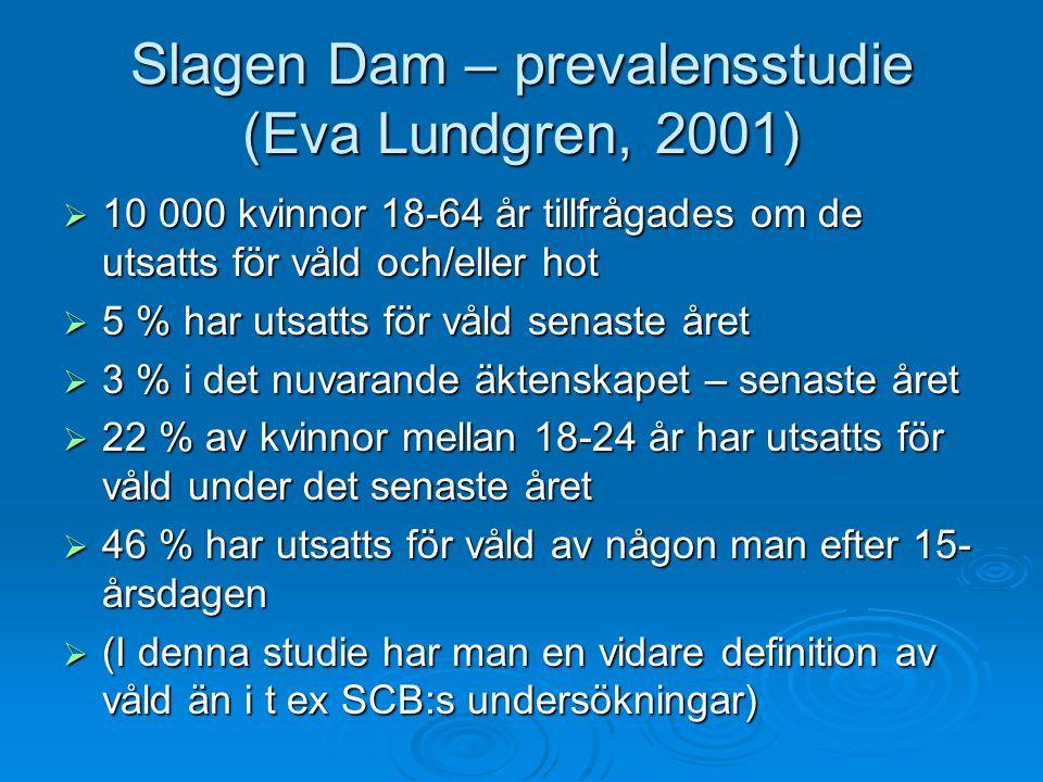 Slagen Dam – prevalensstudie (Eva Lundgren, 2001)