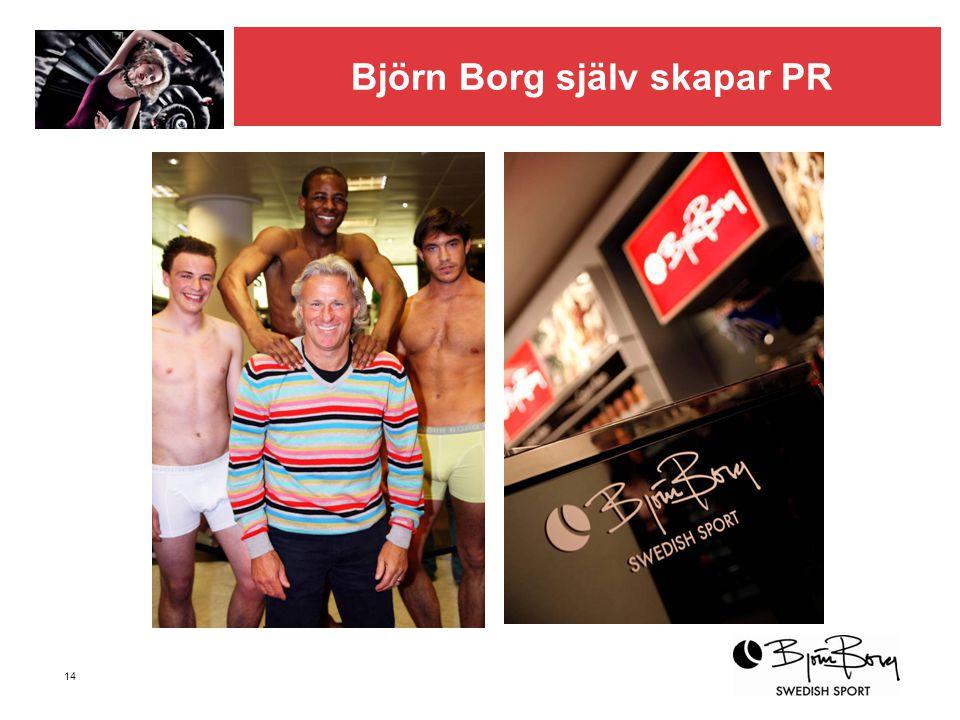 Björn Borg själv skapar PR