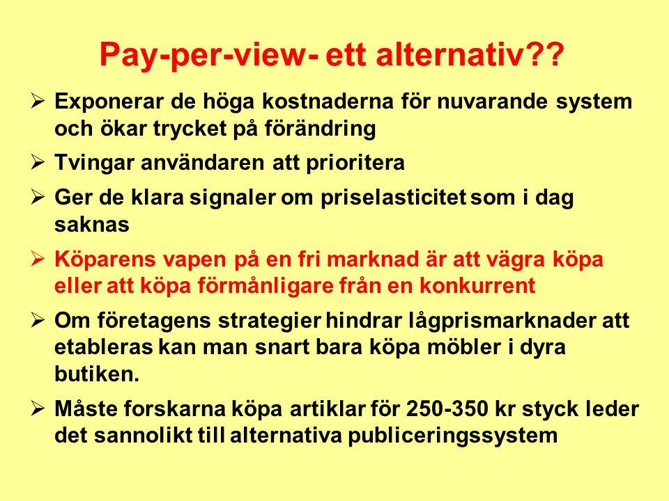 Pay-per-view- ett alternativ