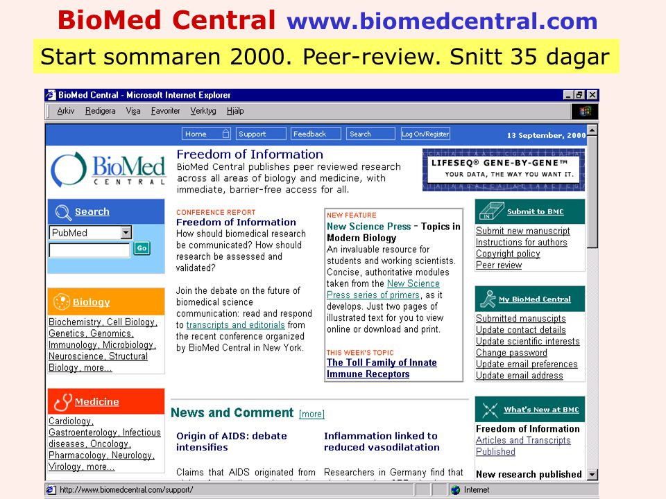 BioMed Central www.biomedcentral.com