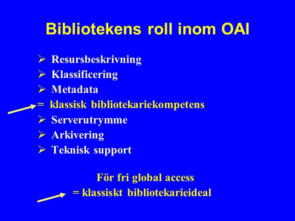 Bibliotekens roll inom OAI