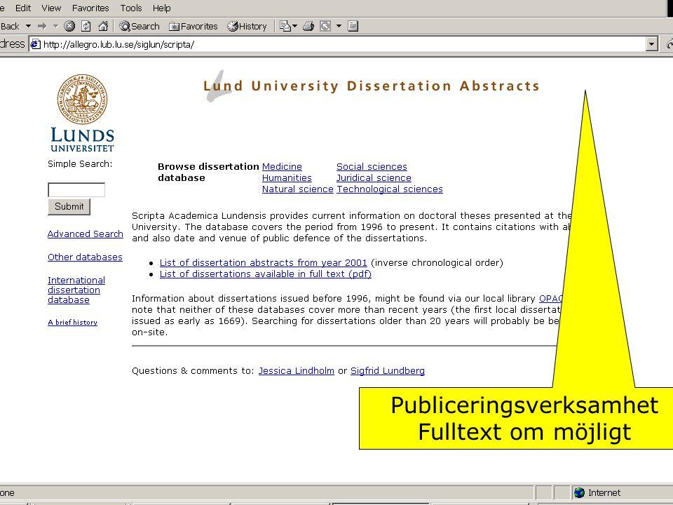 Publiceringsverksamhet