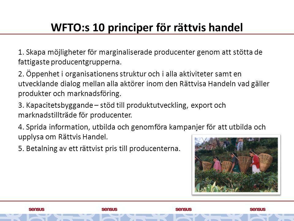 WFTO:s 10 principer för rättvis handel