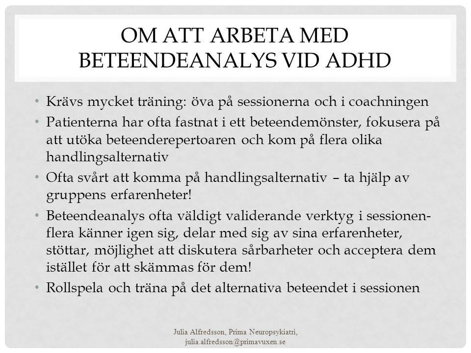 Om att arbeta med beteendeanalys vid ADHD