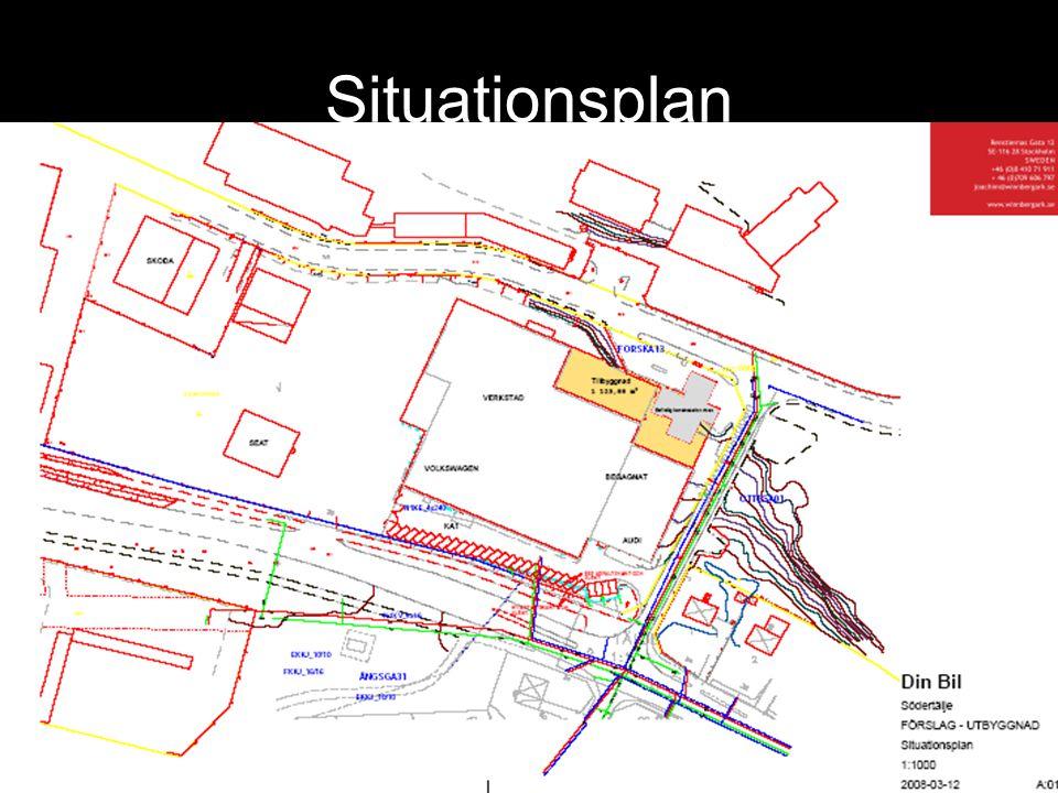 Situationsplan Kostnad P-garage ca 125 000:- per plats. Vilket ger ca 6 500 000:-