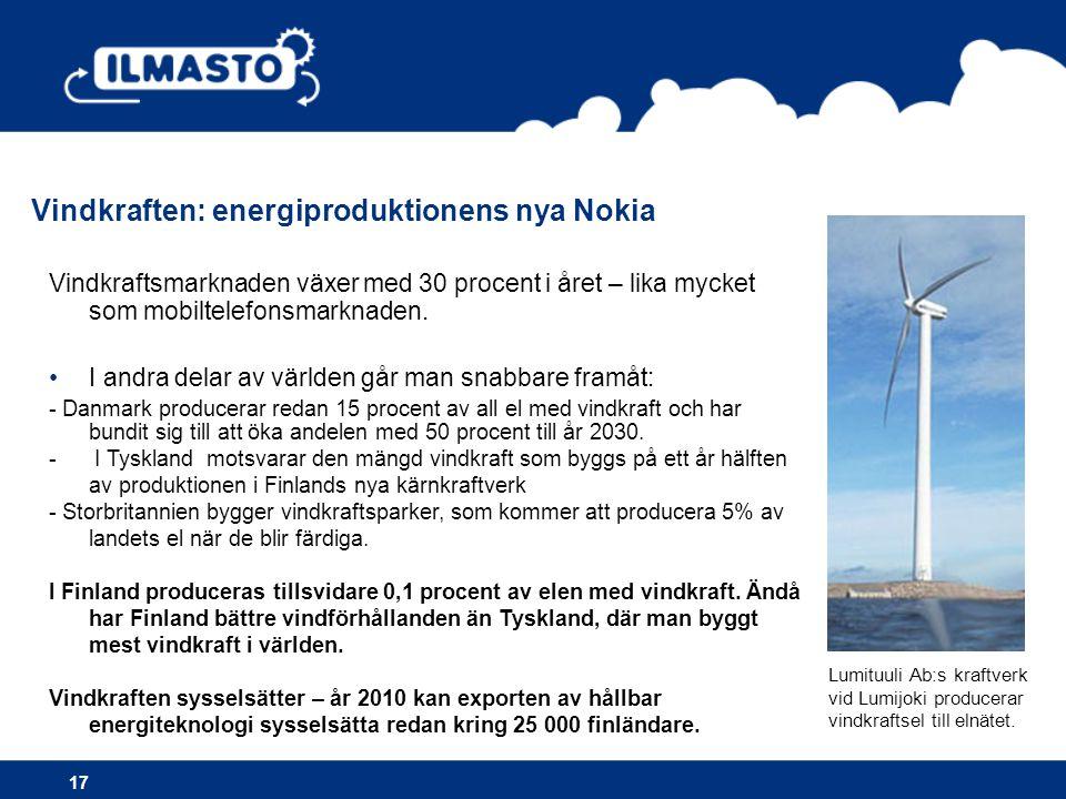 Vindkraften: energiproduktionens nya Nokia