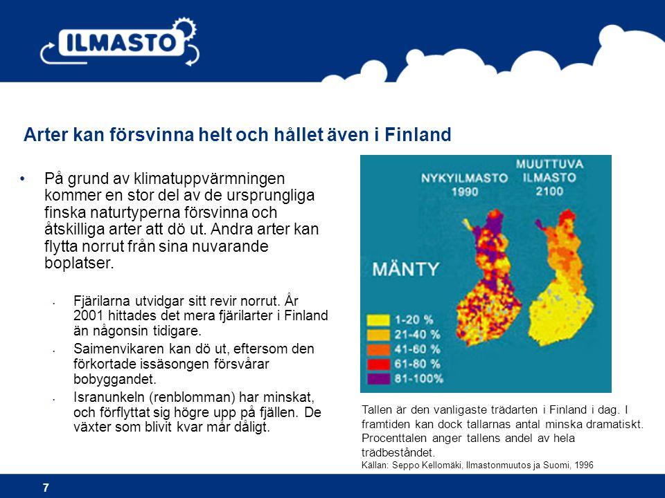Arter kan försvinna helt och hållet även i Finland