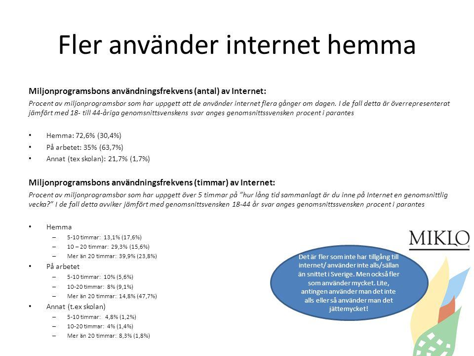 Fler använder internet hemma