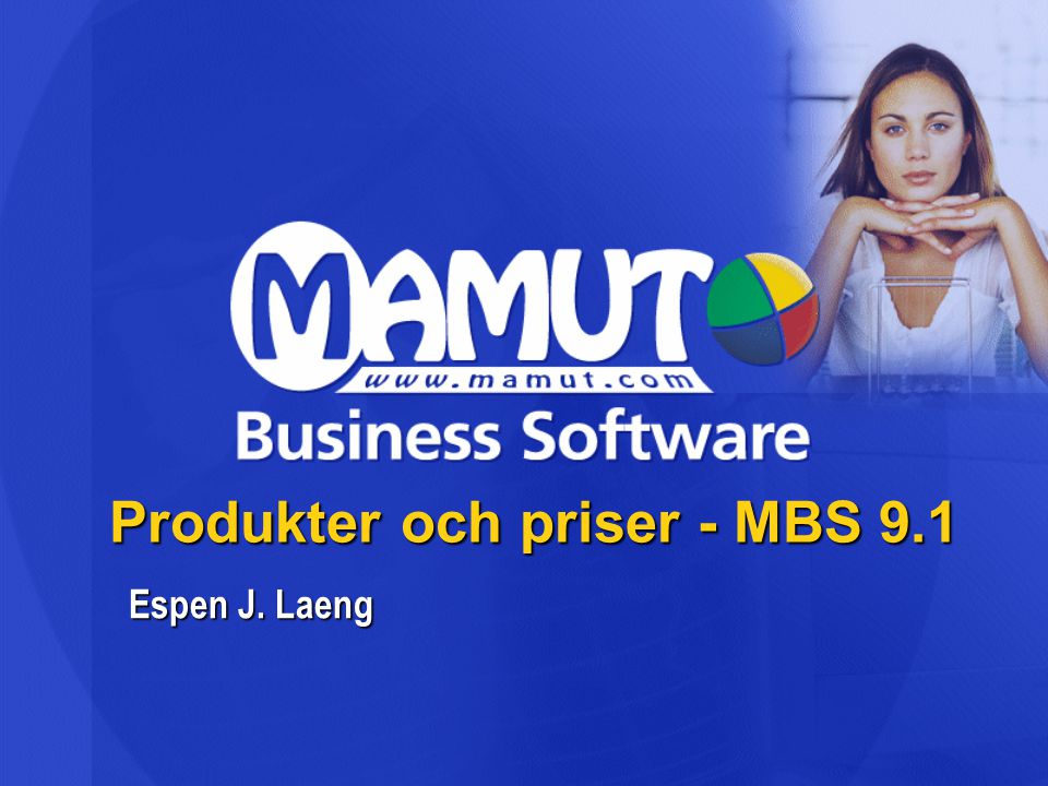 Produkter och priser - MBS 9.1