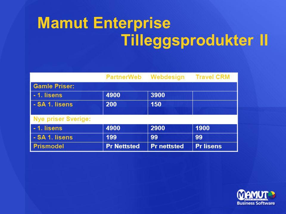 Mamut Enterprise Tilleggsprodukter II