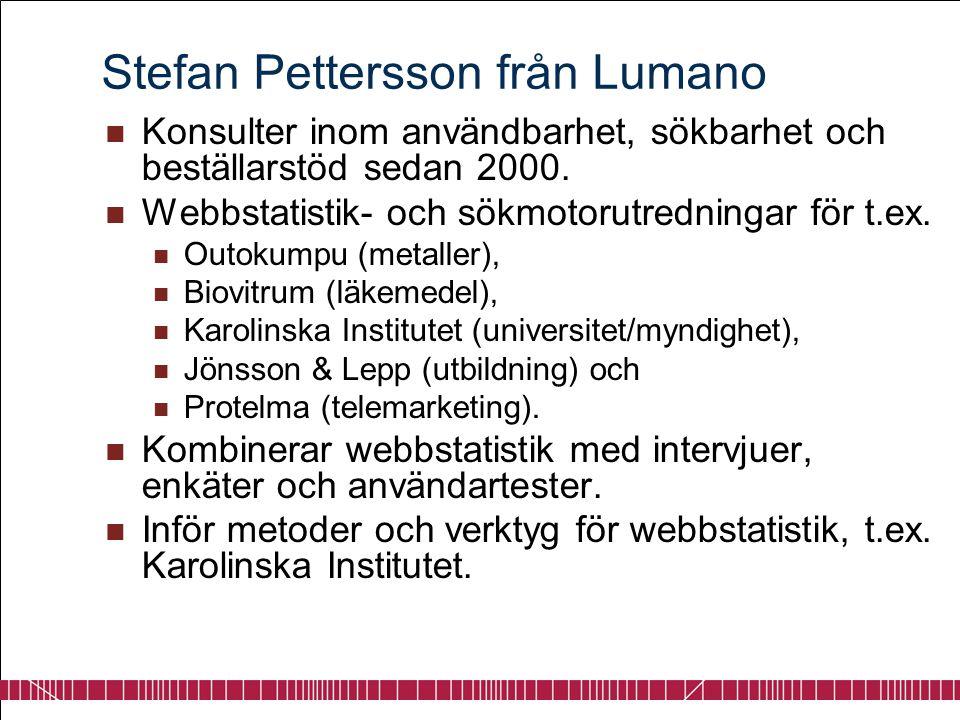 Stefan Pettersson från Lumano