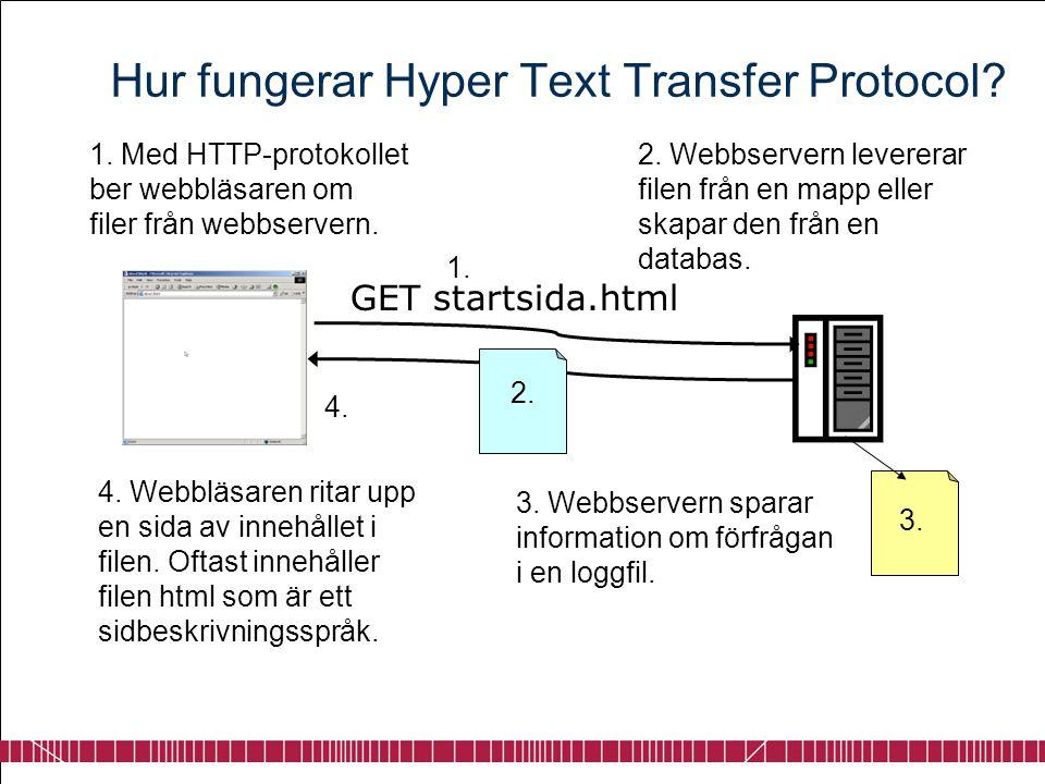 Hur fungerar Hyper Text Transfer Protocol