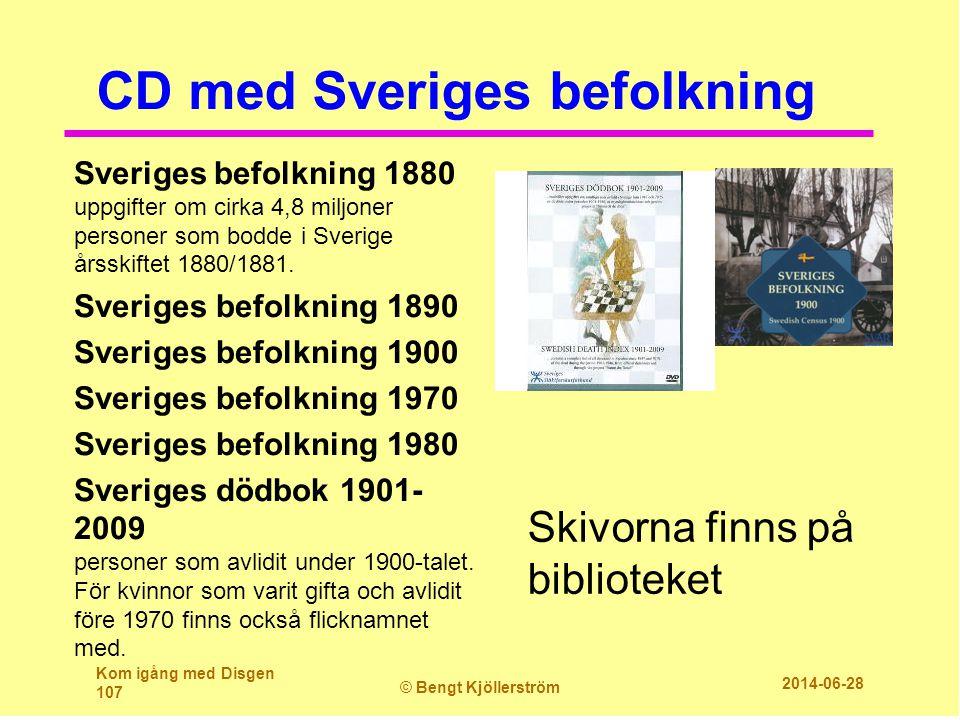 CD med Sveriges befolkning