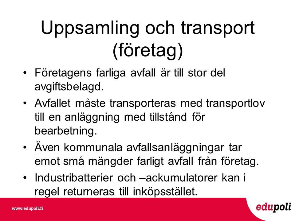 Uppsamling och transport (företag)