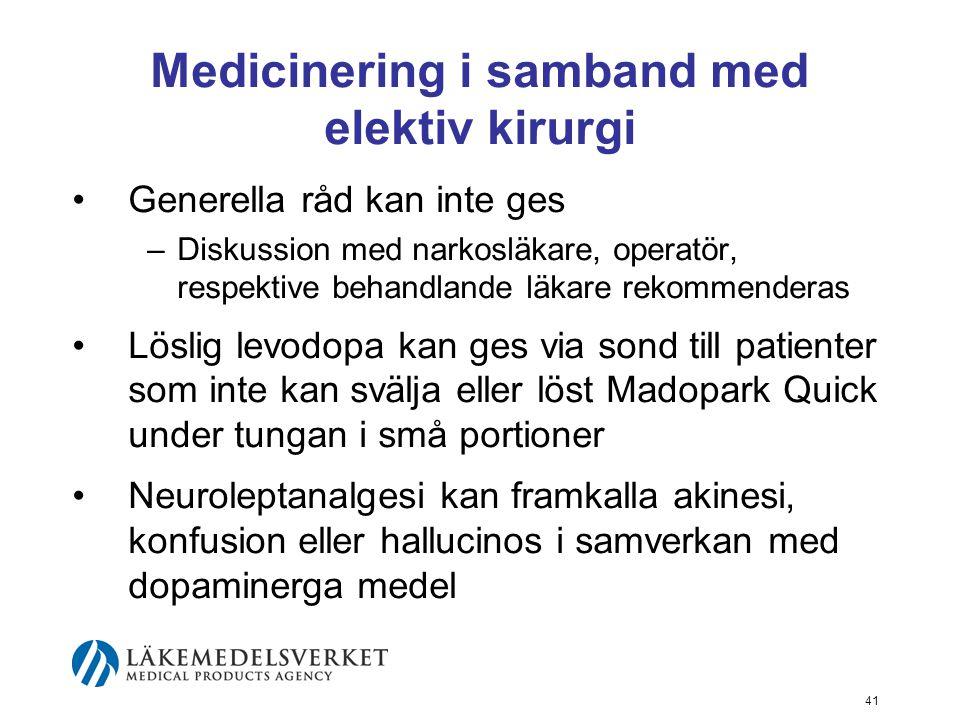 Medicinering i samband med elektiv kirurgi