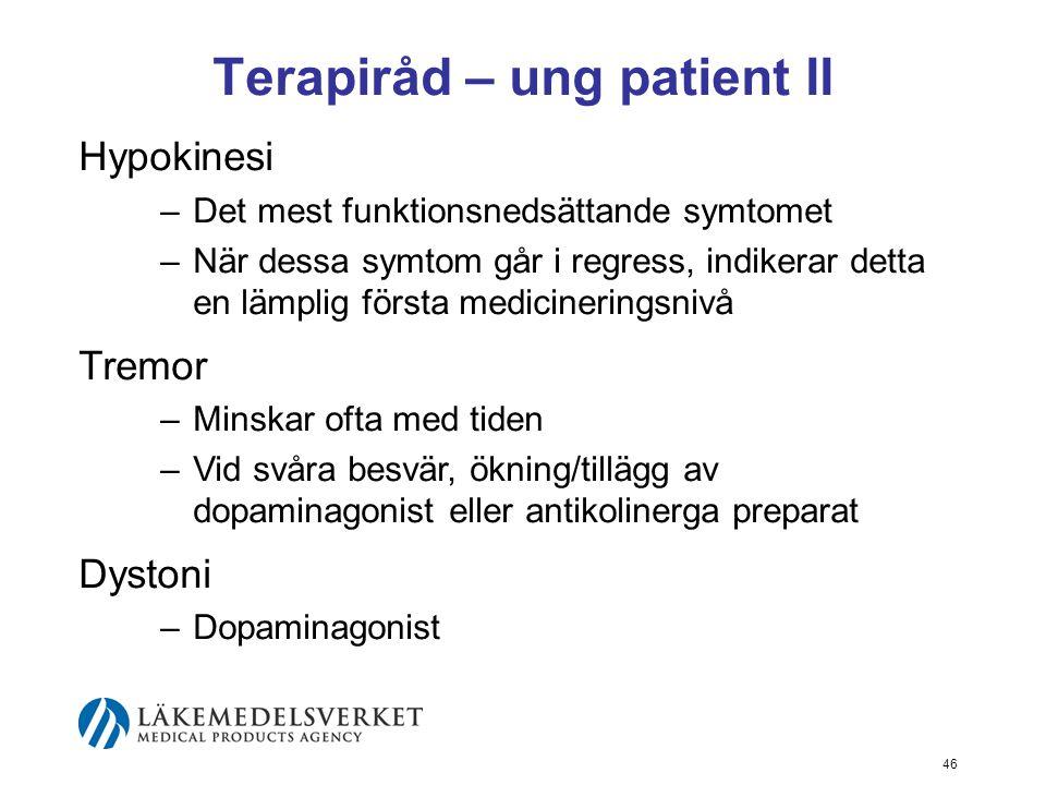 Terapiråd – ung patient II