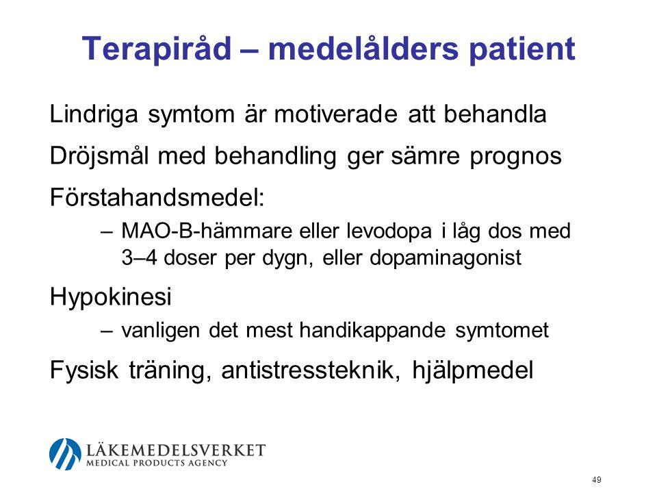 Terapiråd – medelålders patient