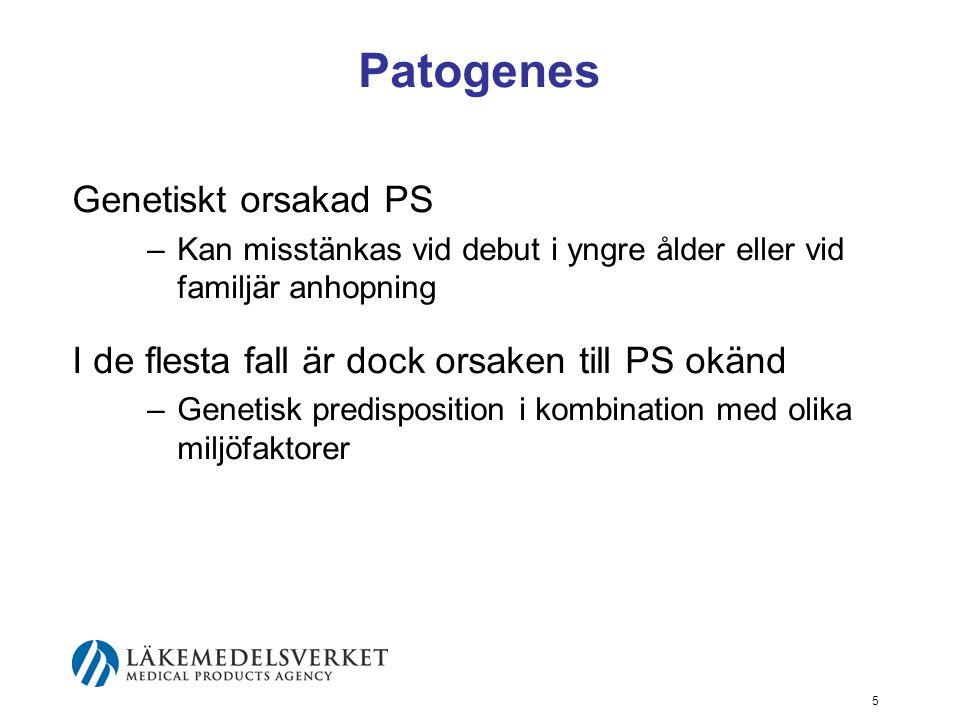 Patogenes Genetiskt orsakad PS