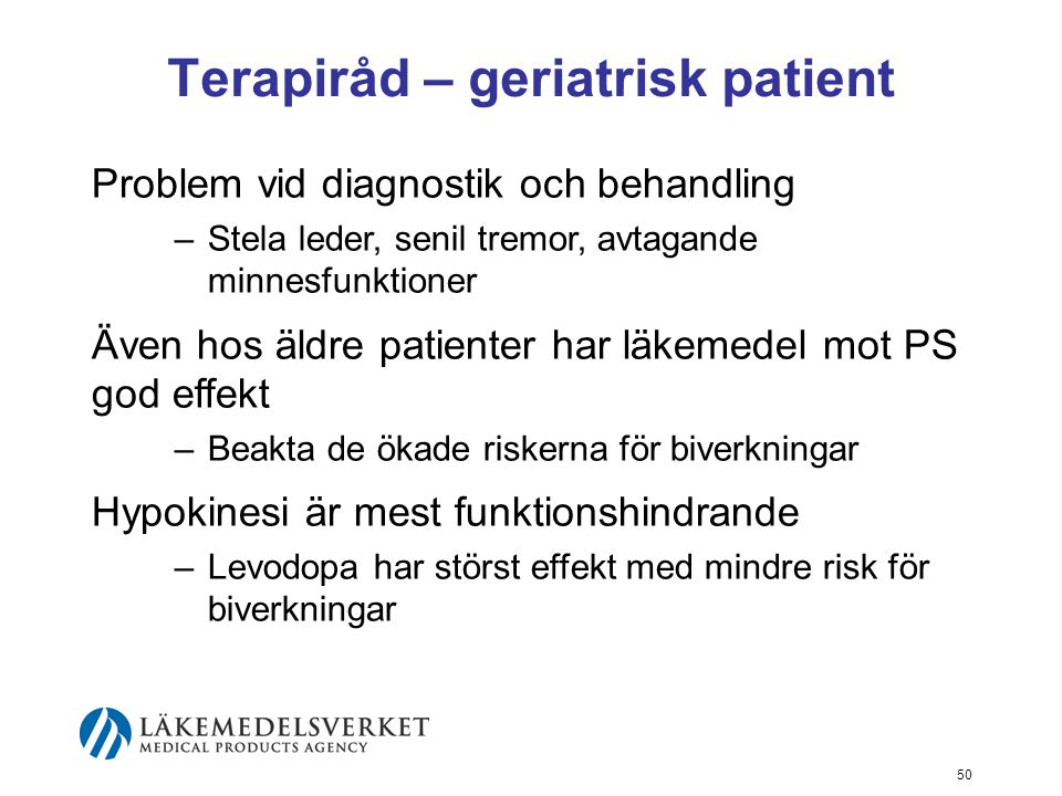 Terapiråd – geriatrisk patient