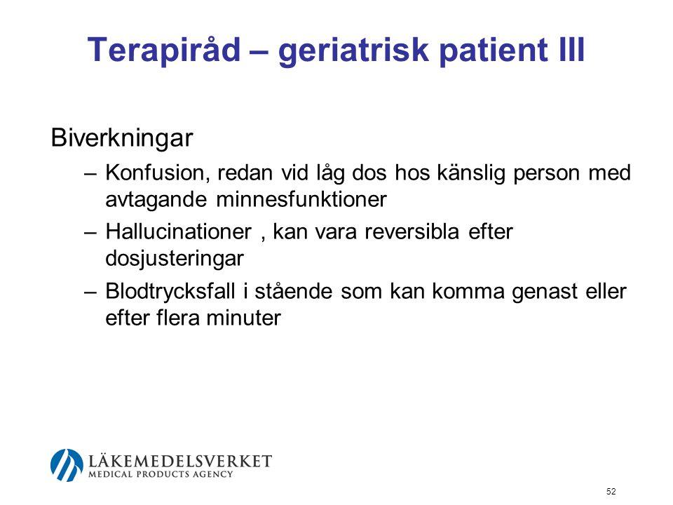 Terapiråd – geriatrisk patient III