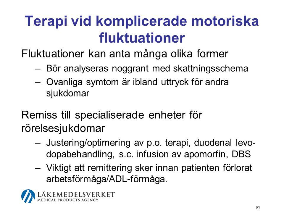 Terapi vid komplicerade motoriska fluktuationer