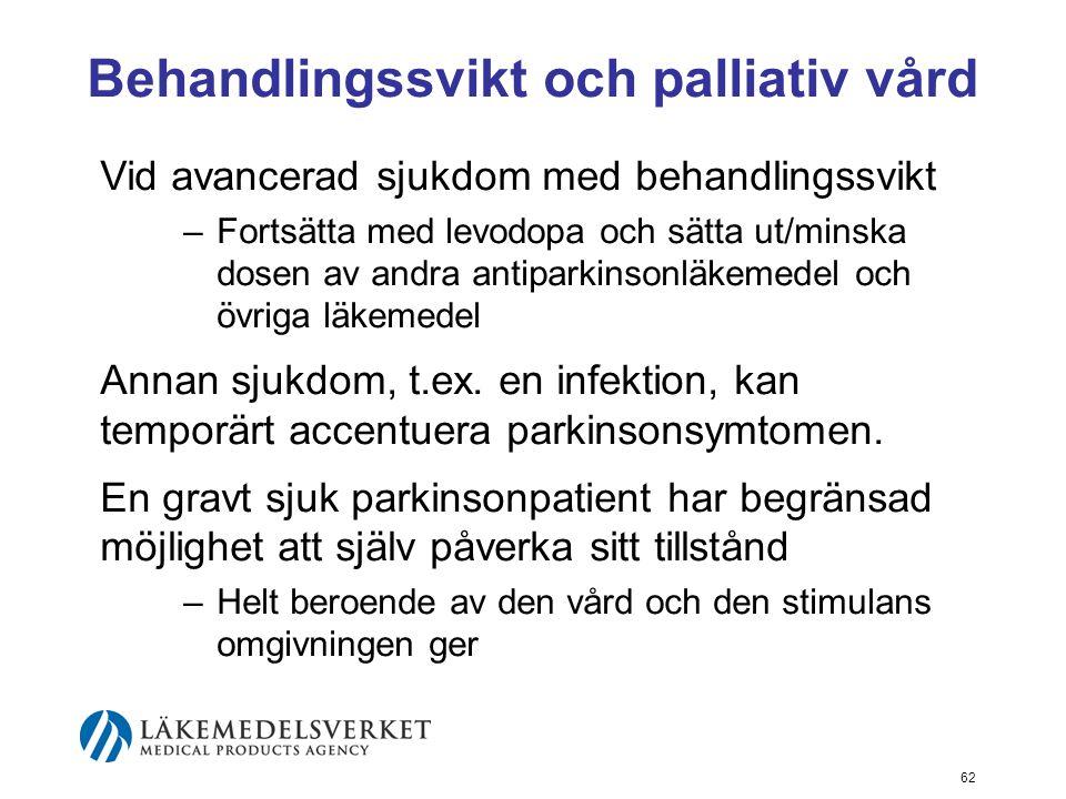 Behandlingssvikt och palliativ vård