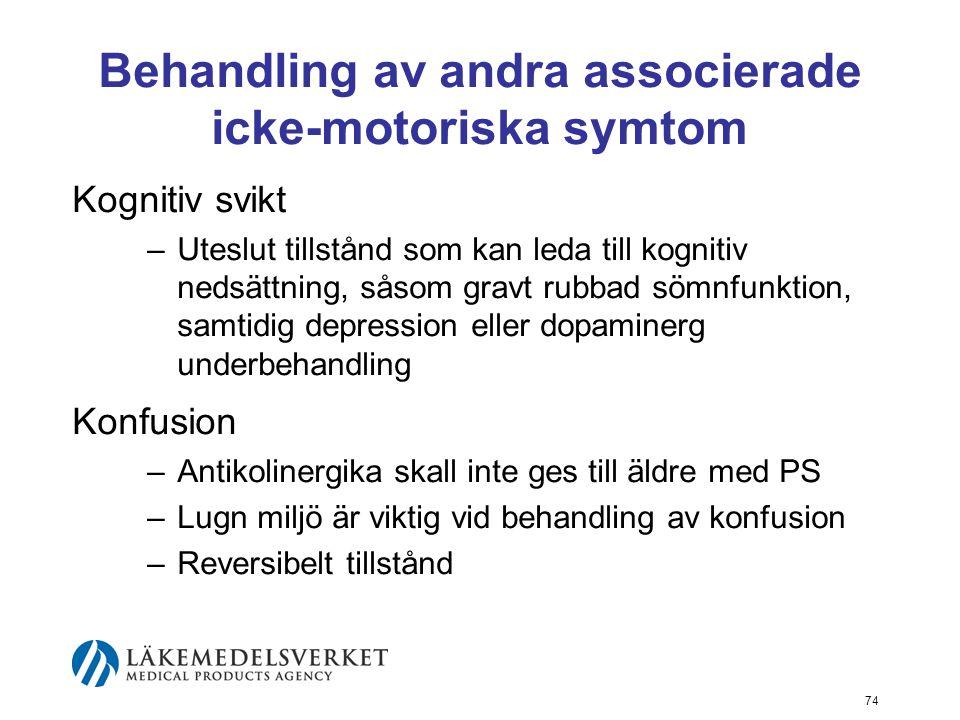 Behandling av andra associerade icke-motoriska symtom