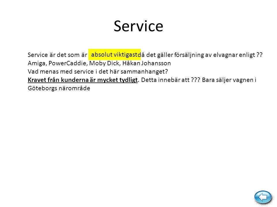 Service Service är det som är då det gäller försäljning av elvagnar enligt