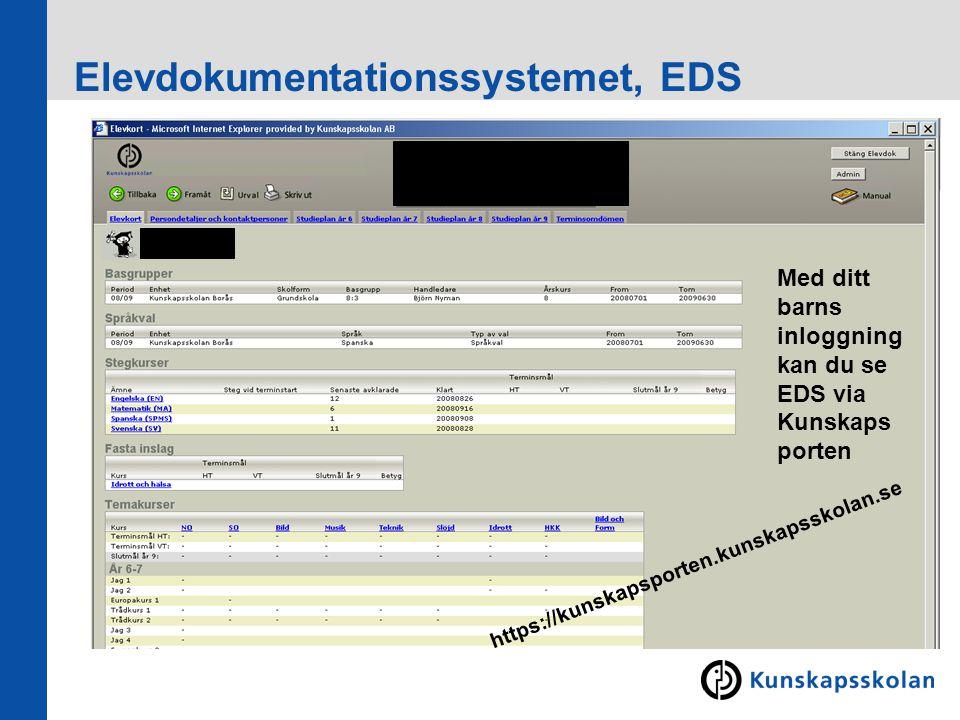 Elevdokumentationssystemet, EDS