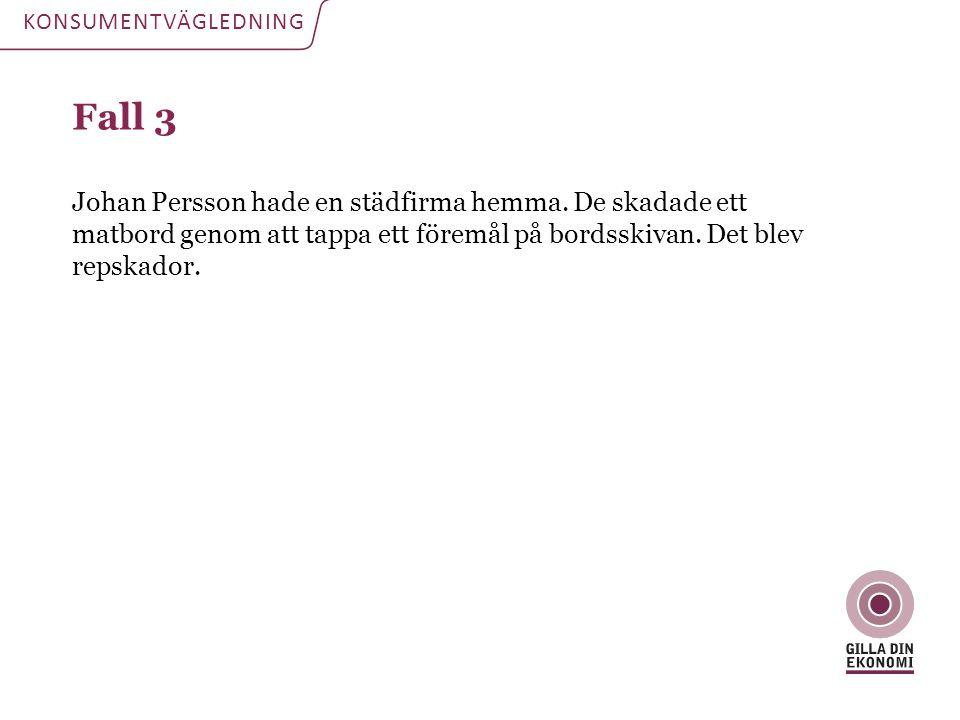 KONSUMENTVÄGLEDNING Fall 3.